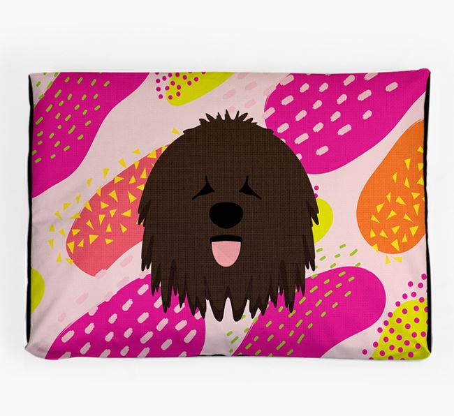 Personalised 'Abstract Design' Dog Bed for your Bergamasco