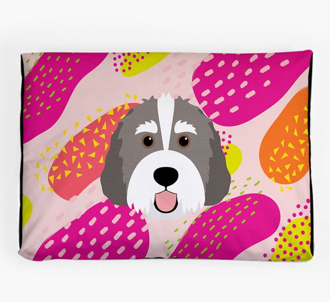 Personalised 'Abstract Design' Dog Bed for your Bernedoodle