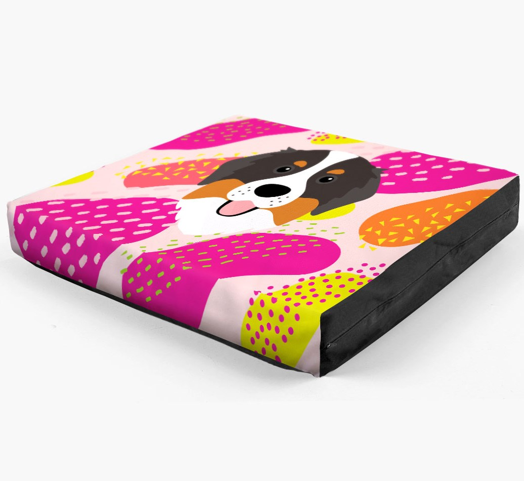 Personalised 'Abstract Design' Dog Bed for your Bernese Mountain Dog