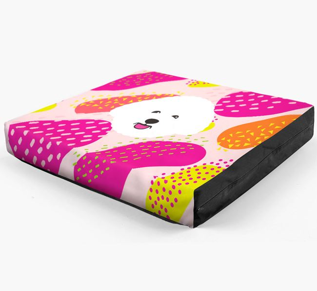 Personalised 'Abstract Design' Dog Bed for your Bichon Frise