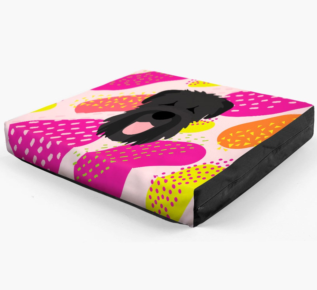 Personalised 'Abstract Design' Dog Bed for your Black Russian Terrier