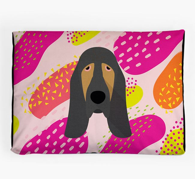 Personalised 'Abstract Design' Dog Bed for your Bloodhound