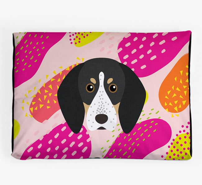 Personalised 'Abstract Design' Dog Bed for your Bluetick Coonhound