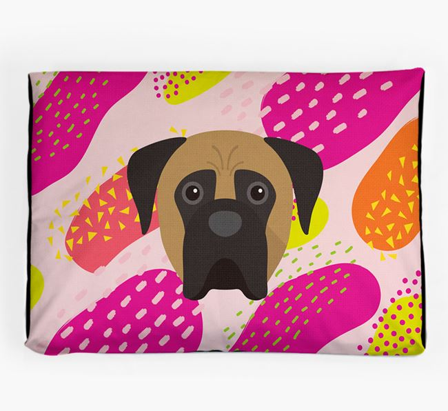 Personalised 'Abstract Design' Dog Bed for your Boerboel