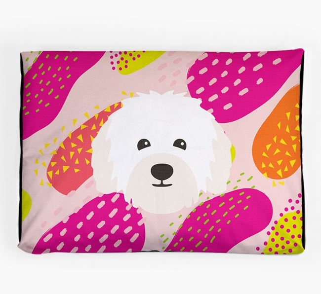 Personalised 'Abstract Design' Dog Bed for your Bolognese