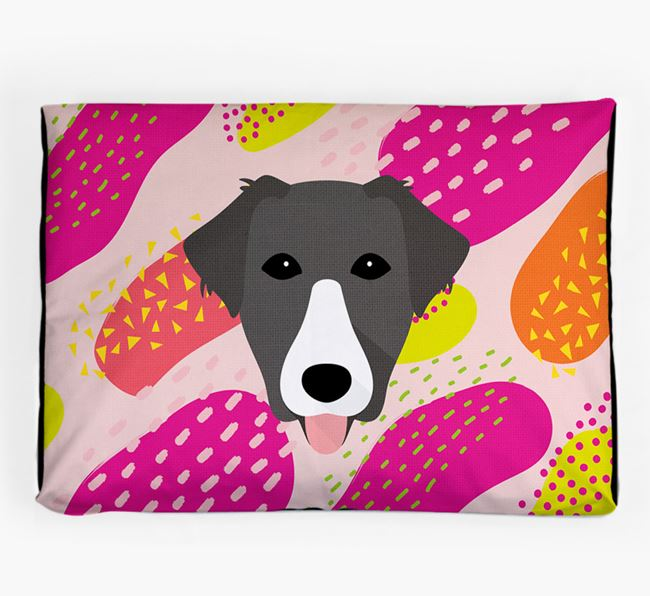 Personalised 'Abstract Design' Dog Bed for your Borador