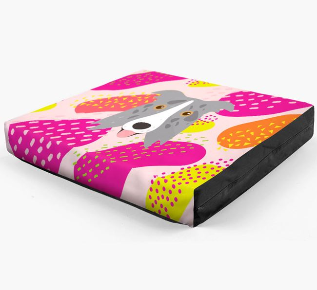 Personalised 'Abstract Design' Dog Bed for your Border Collie
