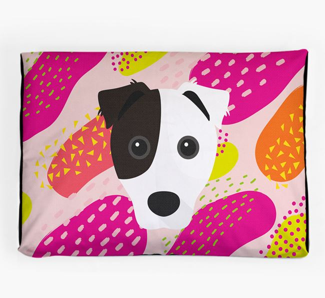 Personalised 'Abstract Design' Dog Bed for your Border Jack