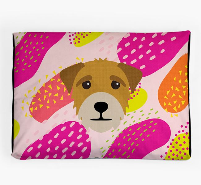 Personalised 'Abstract Design' Dog Bed for your Border Terrier