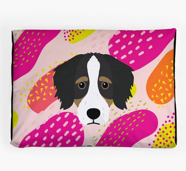 Personalised 'Abstract Design' Dog Bed for your Bordoodle