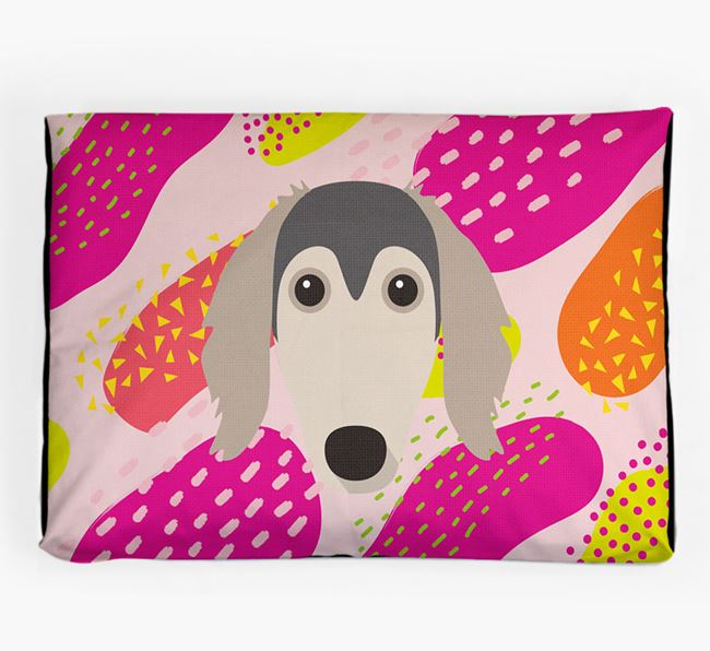 Personalised 'Abstract Design' Dog Bed for your Borzoi