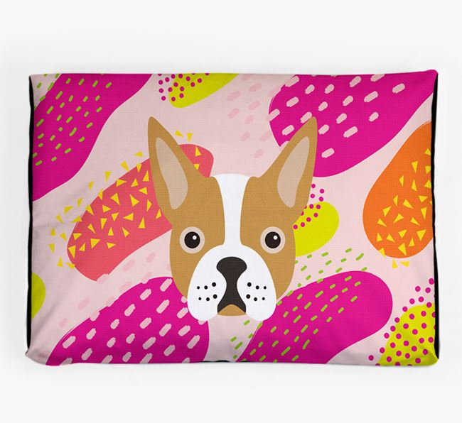 Personalised 'Abstract Design' Dog Bed for your Boston Terrier