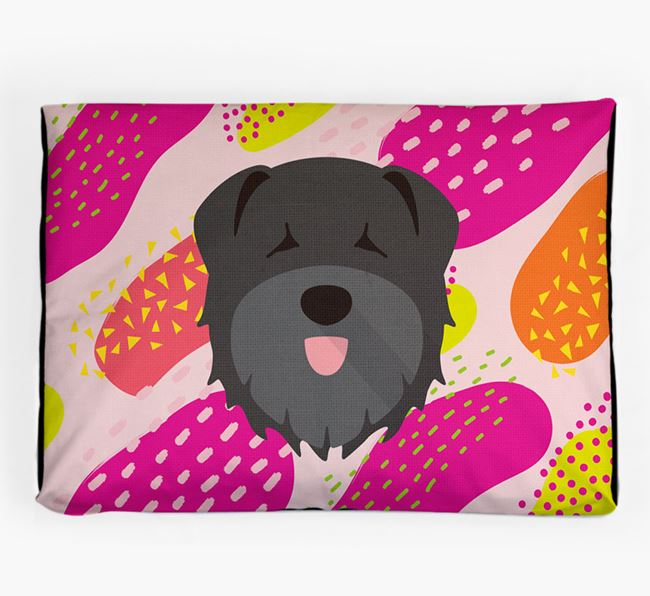 Personalised 'Abstract Design' Dog Bed for your Bouvier Des Flandres