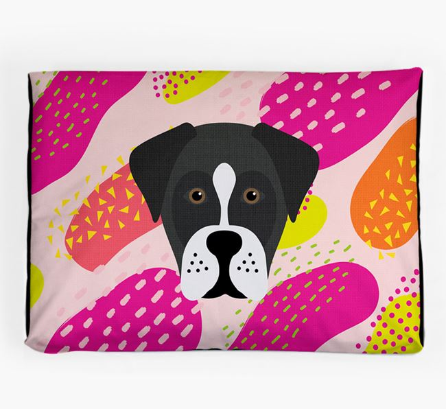 Personalised 'Abstract Design' Dog Bed for your Boxador