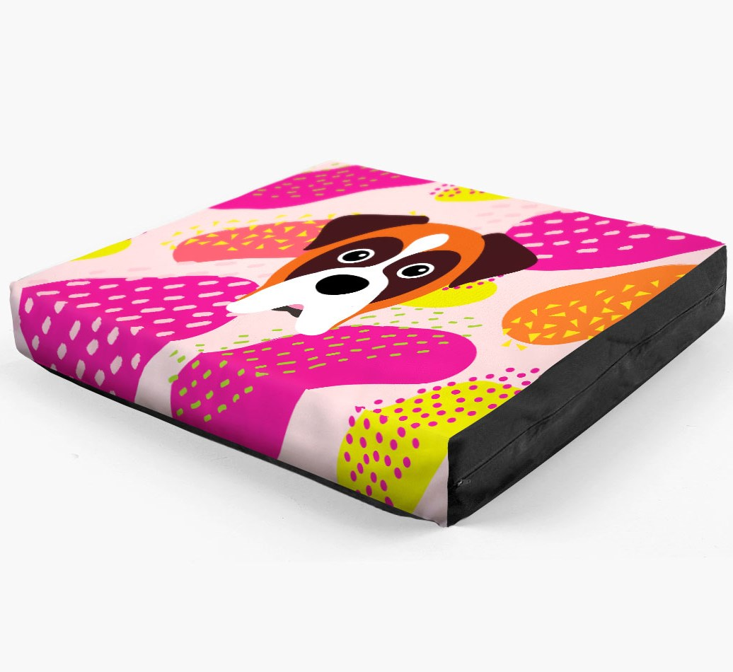 Personalised 'Abstract Design' Dog Bed for your Boxer