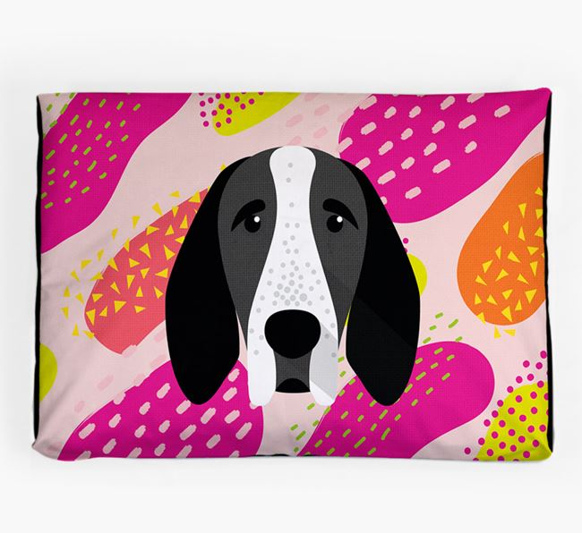 Personalised 'Abstract Design' Dog Bed for your Braque D'Auvergne