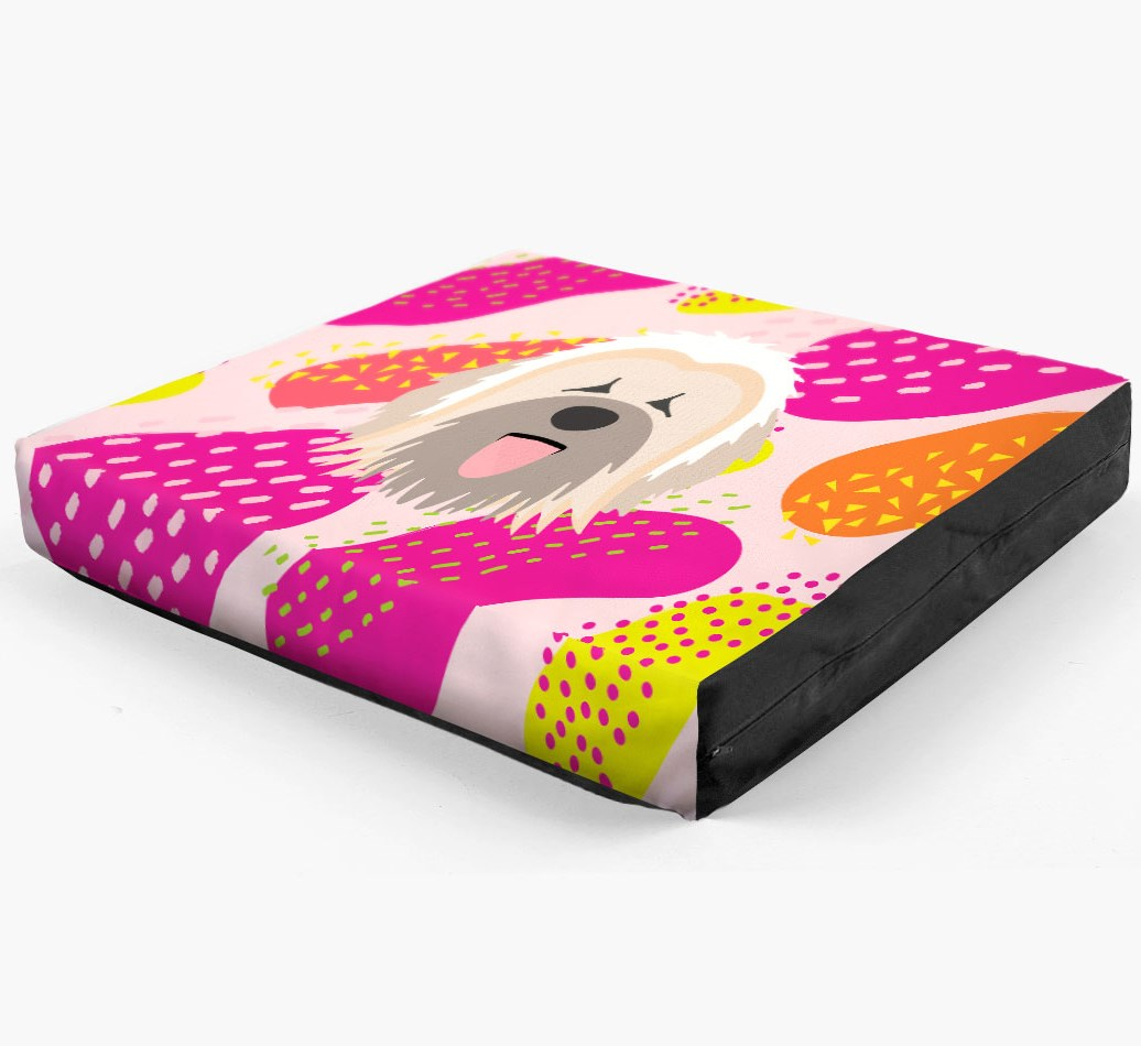 Personalised 'Abstract Design' Dog Bed for your Briard