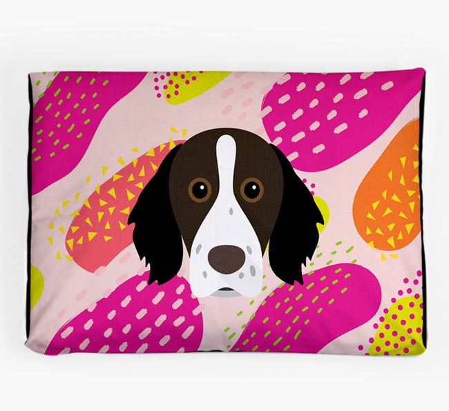 Personalised 'Abstract Design' Dog Bed for your Brittany