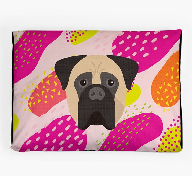 Personalised 'Abstract Design' Dog Bed for your Bullmastiff