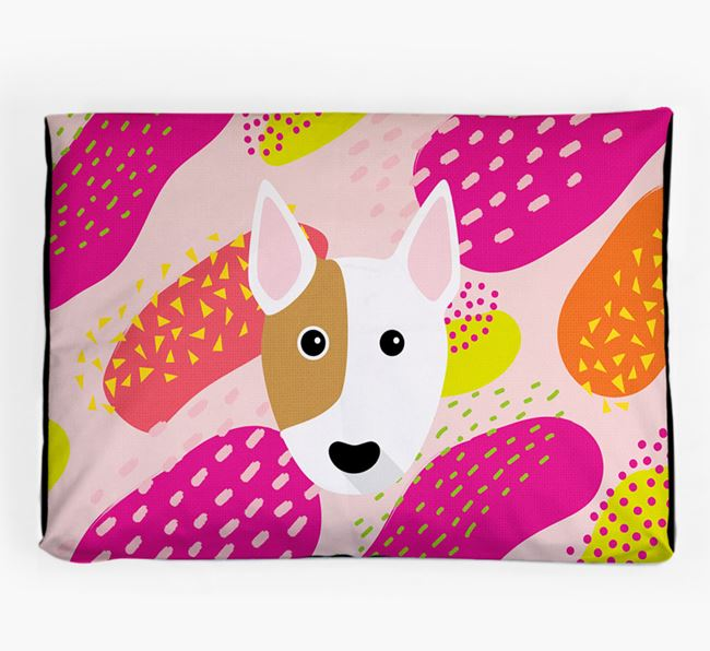 Personalised 'Abstract Design' Dog Bed for your Bull Terrier