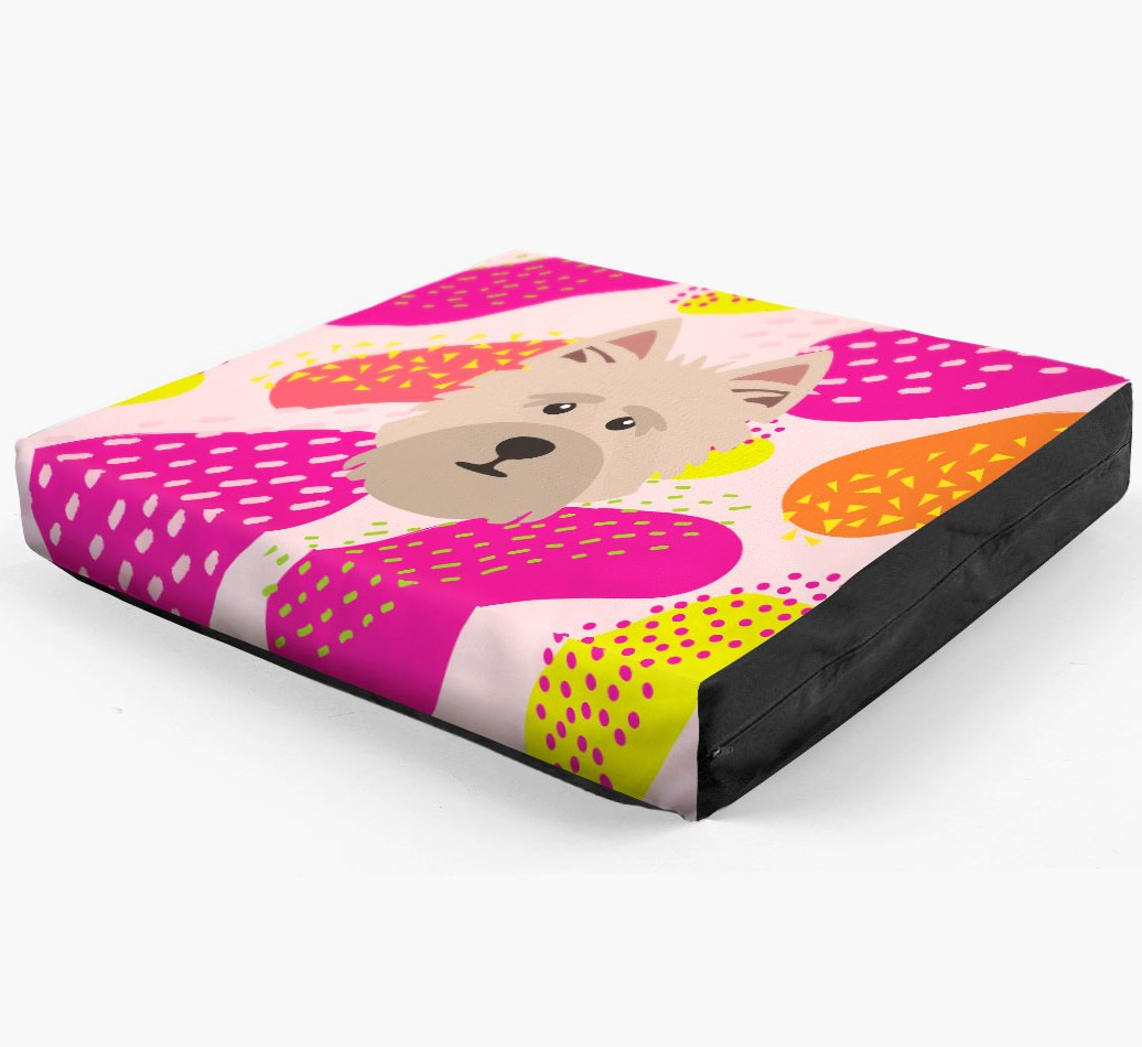 Personalised 'Abstract Design' Dog Bed for your Cairn Terrier