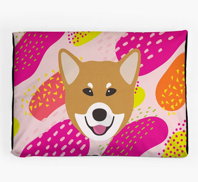 Personalised 'Abstract Design' Dog Bed for your Canadian Eskimo Dog