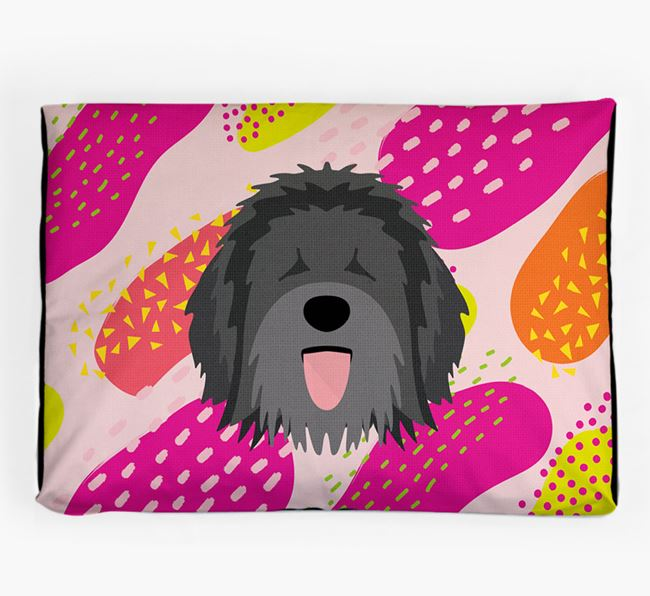 Personalised 'Abstract Design' Dog Bed for your Catalan Sheepdog
