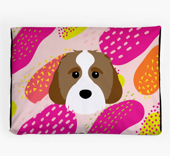 Personalised 'Abstract Design' Dog Bed for your Cavachon