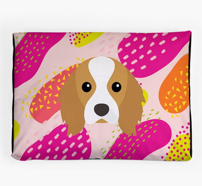 Personalised 'Abstract Design' Dog Bed for your Cavalier King Charles Spaniel
