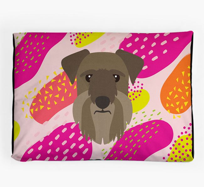 Personalised 'Abstract Design' Dog Bed for your Cesky Terrier