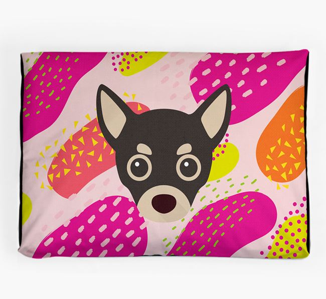 Personalised 'Abstract Design' Dog Bed for your Chihuahua