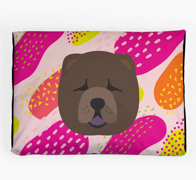 Personalised 'Abstract Design' Dog Bed for your Chow Chow
