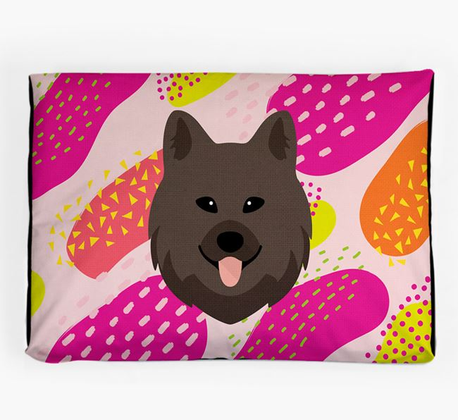 Personalised 'Abstract Design' Dog Bed for your Chow Shepherd
