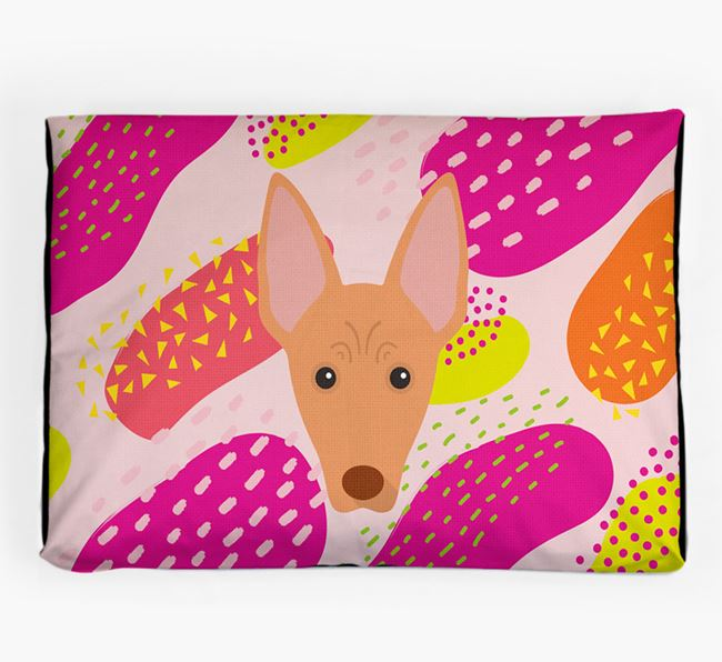 Personalised 'Abstract Design' Dog Bed for your Cirneco Dell'Etna