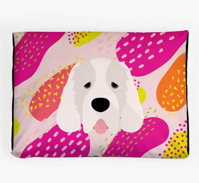 Personalised 'Abstract Design' Dog Bed for your Clumber Spaniel