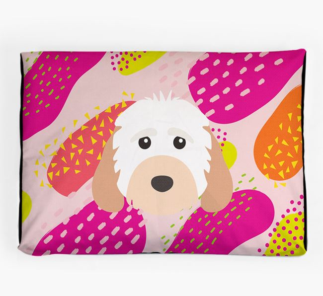 Personalised 'Abstract Design' Dog Bed for your Cockapoo