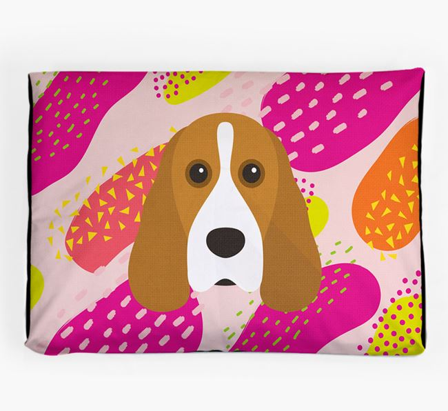 Personalised 'Abstract Design' Dog Bed for your Cocker Spaniel
