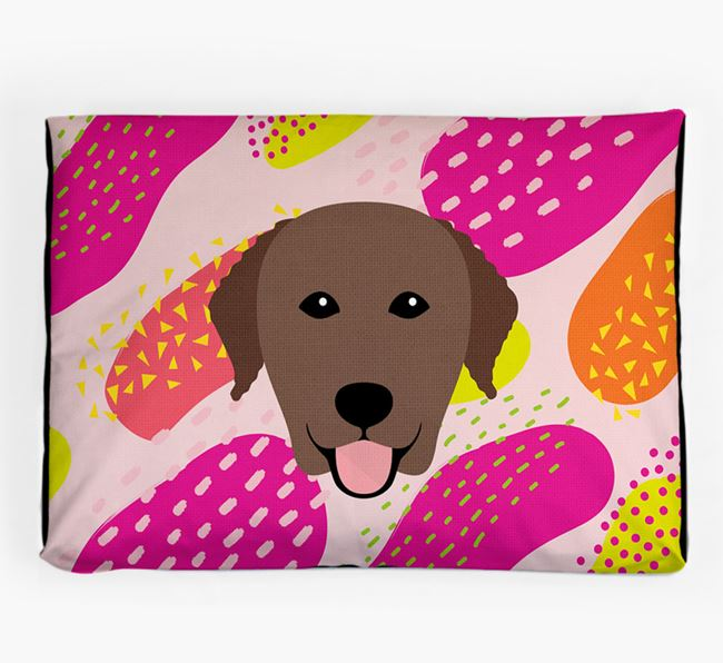 Personalised 'Abstract Design' Dog Bed for your Curly Coated Retriever