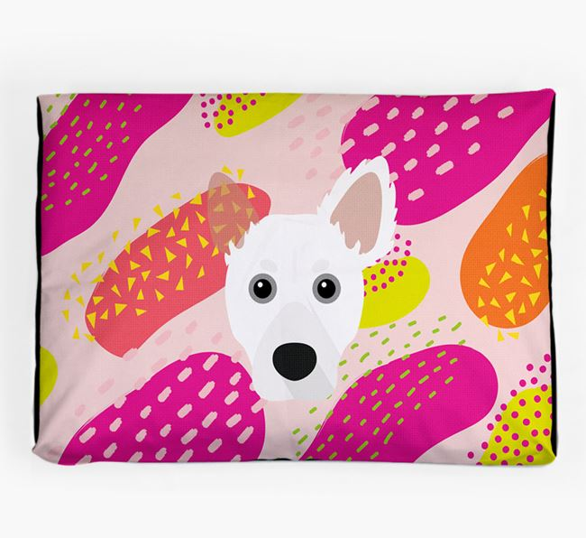 Personalised 'Abstract Design' Dog Bed for your Dameranian