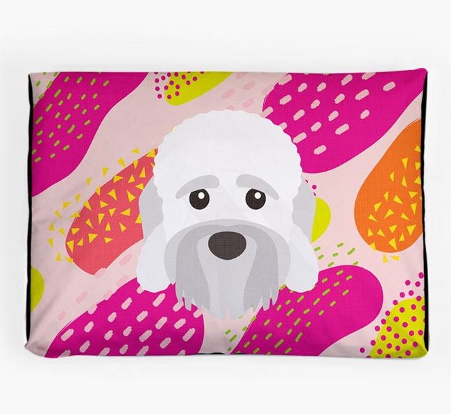 Personalised 'Abstract Design' Dog Bed for your Dandie Dinmont Terrier