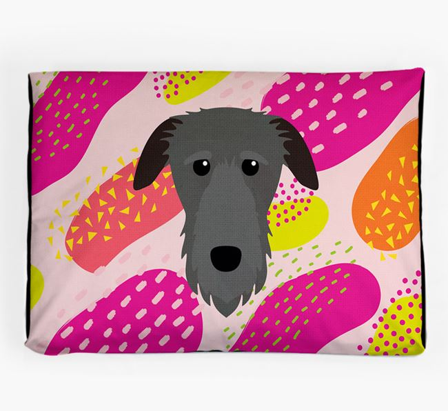 Personalised 'Abstract Design' Dog Bed for your Deerhound