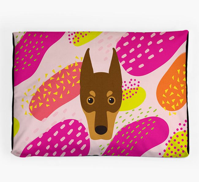 Personalised 'Abstract Design' Dog Bed for your Dobermann