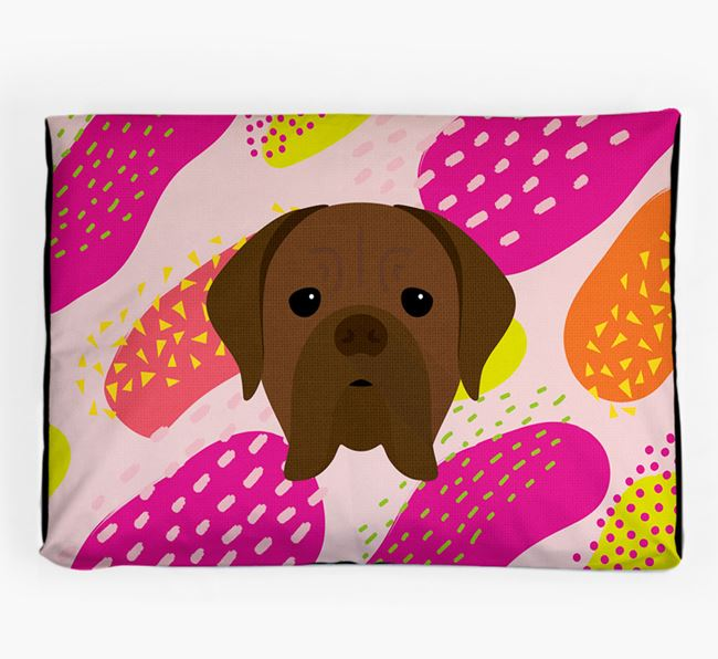 Personalised 'Abstract Design' Dog Bed for your Dogue de Bordeaux