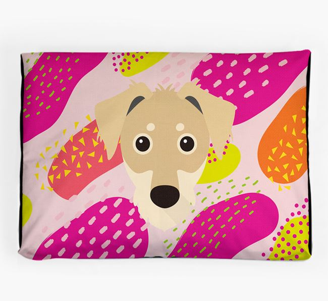 Personalised 'Abstract Design' Dog Bed for your Dorkie