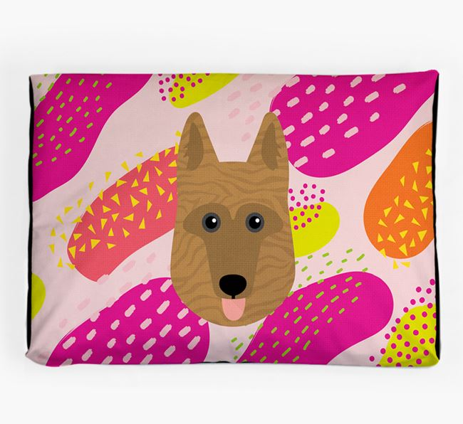 Personalised 'Abstract Design' Dog Bed for your Dutch Shepherd