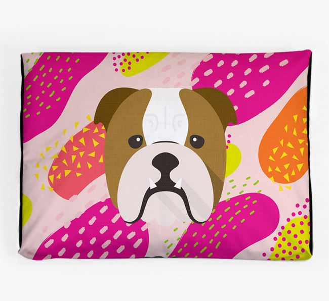 Personalised 'Abstract Design' Dog Bed for your Dog