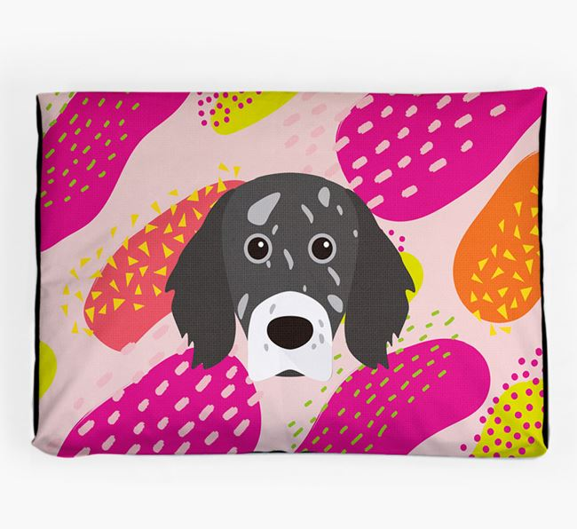 Personalised 'Abstract Design' Dog Bed for your English Setter