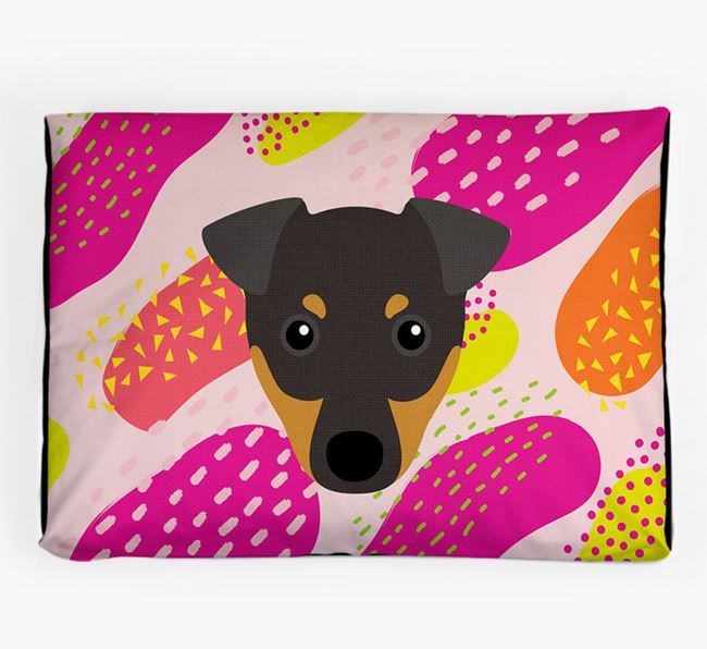 Personalised 'Abstract Design' Dog Bed for your English Toy Terrier