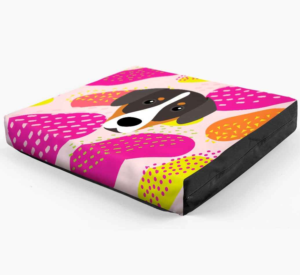 Personalised 'Abstract Design' Dog Bed for your Entlebucher Mountain Dog
