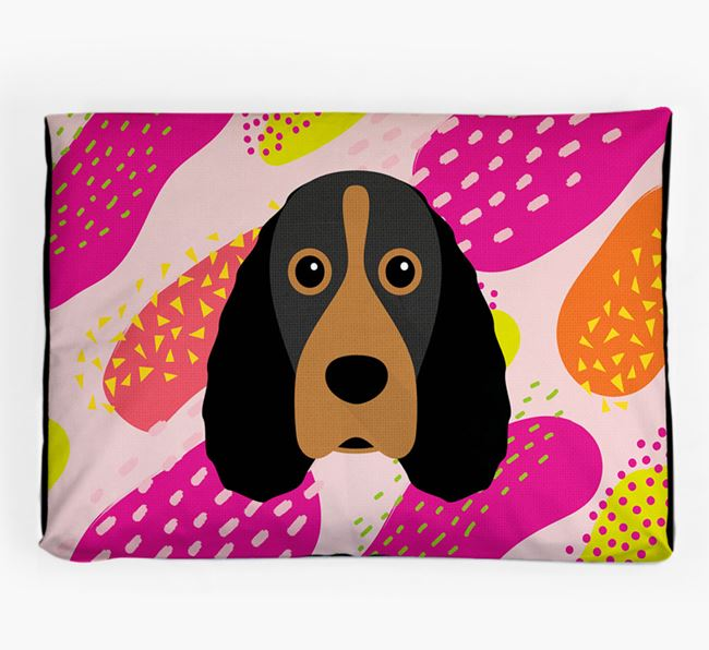 Personalised 'Abstract Design' Dog Bed for your Field Spaniel